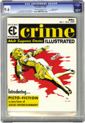 Magazines:Crime, Crime Illustrated #1 Gaines File pedigree 8/11 (EC, 1955) CGC NM+9.6 Cream to off-white pages. Joe Orlando is responsible f...