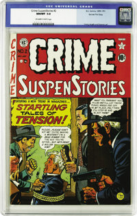 Crime SuspenStories #2 Gaines File pedigree 3/11 (EC, 1950) CGC NM/MT 9.8 Off-white to white pages. CGC's assigned grade...