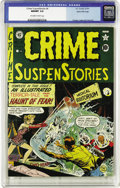 Golden Age (1938-1955):Horror, Crime SuspenStories #4 Gaines File pedigree 3/11 (EC, 1951) CGCNM/MT 9.8 Off-white to white pages. Bill Gaines' closet is p...