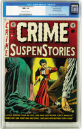 Golden Age (1938-1955):Crime, Crime SuspenStories #13 Gaines File pedigree 1/12 (EC, 1952) CGC NM+ 9.6 Off-white to white pages. Real-life axe-wielder Liz...