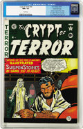 Golden Age (1938-1955):Horror, Crypt of Terror #19 Gaines File pedigree 11/11 (EC, 1950) CGC NM+9.6 Cream pages. Voodoo, grave-robbing, and skeletons all ...