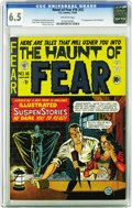 Golden Age (1938-1955):Horror, Haunt of Fear #16 (#2) (EC, 1950) CGC FN+ 6.5 Off-white pages.Notable for the first appearance of the old Witch, this issue...