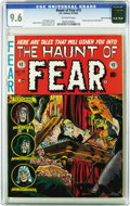 Golden Age (1938-1955):Horror, Haunt of Fear #15 Gaines File pedigree 10/12 (EC, 1952) CGC NM+ 9.6Off-white pages. One of Graham Ingels' most gripping cov...