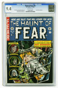 "Golden Age (1938-1955):Horror, Haunt of Fear #16 (EC, 1952) CGC NM 9.4 Off-white pages. The story""The Coffin"" in this issue is a memorable tale indeed: a ..."