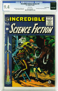 Golden Age (1938-1955):Science Fiction, Incredible Science Fiction #31 Gaines File pedigree 3/12 (EC, 1955)CGC NM 9.4 White pages. This issue has Roy Krenkel's onl...