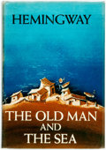 Books:Literature 1900-up, Ernest Hemingway. The Old Man and the Sea. New York:Scribner's, 1952. First edition. Publisher's cloth and original...