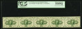 Fractional Currency:First Issue, Fr. 1243 10¢ First Issue Horizontal Strip of Five PCGS Choice AboutNew 55PPQ.. ...