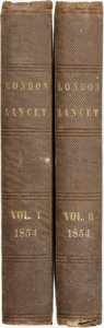 Books:Periodicals, [Bound Periodical]. The London Lancet; A Journal of British and Foreign Medical, Surgical, and Chemical Science, Critici... (Total: 2 Items)