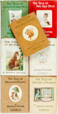 Books:Children's Books, Beatrix Potter. Group of Seven Books. London: Frederick Warne,[various dates]. Sixteenmos. Original cloth bindings; two in ...(Total: 7 Items)