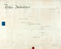"Miscellaneous:Ephemera, Nineteenth Century Lease. One vellum page, 28.5"" x 23"", GreatBritain, July 21, 1860, for the lease of Helstone Manor from J..."