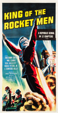 "Movie Posters:Serial, King of the Rocket Men (Republic, R-1956). Three Sheet (41"" X79.25"").. ..."