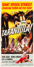 "Movie Posters:Science Fiction, Tarantula (Universal International, 1955). Three Sheet (41.5"" X80"").. ..."