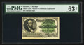 Miscellaneous:Other, World's Columbian Exposition Lincoln Ticket 1893 PMG ChoiceUncirculated 63 Net.. ...