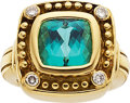 Estate Jewelry:Rings, Tourmaline, Diamond, Gold Ring, Marya Dabrowski. ...
