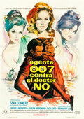 "Movie Posters:James Bond, Dr. No (United Artists, 1963). Spanish One Sheet (27.25"" X 39"")....."