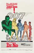 "Movie Posters:James Bond, Dr. No (United Artists, 1962). One Sheet (27"" X 41.5"") White SmokeStyle.. ..."