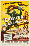 "Movie Posters:Horror, The Creature Walks Among Us (Universal International, 1956). OneSheet (27.25"" X 41"").. ..."
