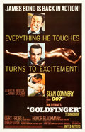 "Movie Posters:James Bond, Goldfinger (United Artists, 1964). One Sheet (26.75"" X 41.5"")Glossy Style.. ..."