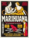"Movie Posters:Exploitation, Marihuana (Roadshow Attractions, 1936). Trimmed One Sheet (26.25"" X33.5"").. ..."