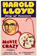 "Movie Posters:Comedy, Movie Crazy (Paramount, 1932). One Sheet (27.25"" X 40.75"") StyleA.. ..."