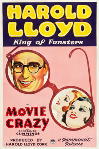 "Movie Crazy (Paramount, 1932). One Sheet (27.25"" X 40.75"") Style A"