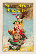 "Movie Posters:Comedy, Play Safe! (Pathé, 1927). One Sheet (27"" X 41"") Style B.. ..."