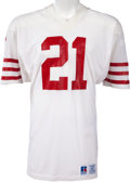 Football Collectibles:Uniforms, 1984 Eric Wright Game Worn San Francisco 49ers Jersey, MEARS A10. ...