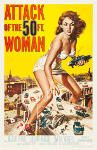 "Attack of the 50 Foot Woman (Allied Artists, 1958). One Sheet (27"" X 41.5"")"