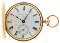 Timepieces:Pocket (post 1900), Barwise London 18k Gold 1/4 Repeating Duplex Hunters Case, circa1830. ...
