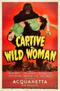 """Movie Posters:Horror, Captive Wild Woman (Universal, 1943). One Sheet (27"""" X 41"""").. ..."""