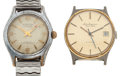 Timepieces:Wristwatch, Stratton Incabloc & Jules Jurgensen Automatic Wristwatches Runners. ... (Total: 2 Items)