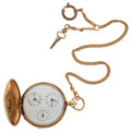 Timepieces:Pocket (pre 1900) , Swiss Hunter's Case Pocket Watch. ...