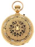 Timepieces:Pocket (post 1900), Edouard Perregaux 18k Gold & Enamel Chronograph. ...