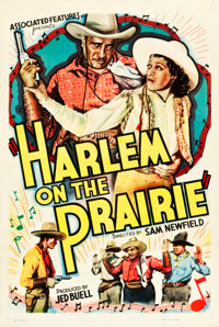"Harlem on the Prairie (Associated Features, 1937). One Sheet (27.5"" X 41"")"
