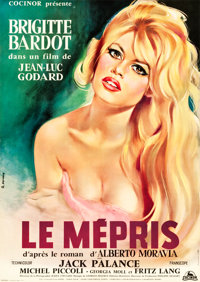 "Le Mepris (Cocinor, 1963). Full-Bleed French Affiche (22.25"" X 31.5"")"