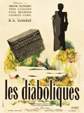 "Movie Posters:Foreign, Les Diaboliques (Cinedis, 1955). French Affiche (23.5"" X 31.5"")....."