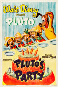"Movie Posters:Animation, Pluto's Party (RKO, 1952). One Sheet (27"" X 41"").. ..."