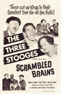 "Movie Posters:Comedy, The Three Stooges in Scrambled Brains (Columbia, 1951). One Sheet(27"" X 41.5"").. ..."