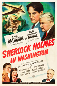 "Sherlock Holmes in Washington (Universal, 1943). One Sheet (27.25"" X 41"")"