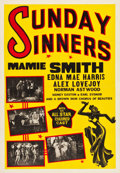 "Movie Posters:Black Films, Sunday Sinners (International Road Shows, 1940). One Sheet (28.25""X 41"").. ..."
