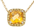 Estate Jewelry:Necklaces, Citrine, Yellow Sapphire, Gold Necklace. ...