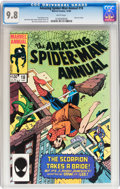 Modern Age (1980-Present):Superhero, The Amazing Spider-Man Annual #18 (Marvel, 1984) CGC NM/MT 9.8White pages....