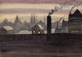 Works on Paper, CHARLES EPHRAIM BURCHFIELD (American, 1893-1967). November Light, 1921. Watercolor and pencil on paper. 14 x 20 inches (...