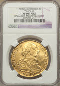 Colombia, Colombia: Charles III gold 8 Escudos 1789 NR-JJ XF Details (DamagedMount Removed) NGC,...