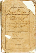 Books:Americana & American History, Confederate Imprint: GENERAL ORDERS FROM ADJUTANT ANDINSPECTOR-GENERAL'S OFFICE, CONFEDERATE STATES ARMY, FROM JANUARY,1862,...