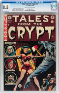 Golden Age (1938-1955):Horror, Tales From the Crypt #41 (EC, 1954) CGC VF+ 8.5 Off-white to whitepages....