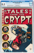 Golden Age (1938-1955):Horror, Tales From the Crypt #43 (EC, 1954) CGC VF+ 8.5 Off-white to whitepages....