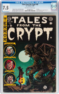 Golden Age (1938-1955):Horror, Tales From the Crypt #46 (EC, 1955) CGC VF- 7.5 Off-white to whitepages....