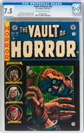 Golden Age (1938-1955):Horror, Vault of Horror #34 (EC, 1954) CGC VF- 7.5 Off-white to whitepages....