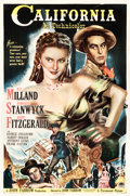 "Movie Posters:Western, California (Paramount, 1946). One Sheet (27"" X 41"").. ..."